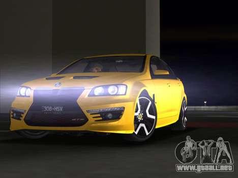 Holden HSV GTS 2011 para GTA Vice City vista superior