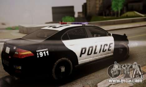Vapid Police Interceptor from GTA V para GTA San Andreas left