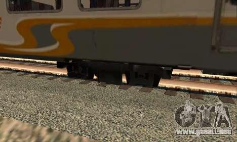 K1 Argo Traincar De Indonesia para GTA San Andreas vista posterior izquierda
