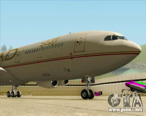 Airbus A340-313 Etihad Airways para visión interna GTA San Andreas