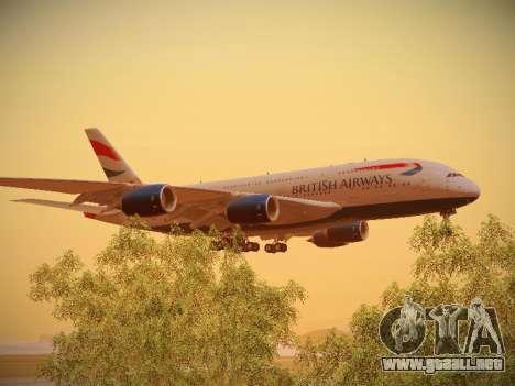 Airbus A380-800 British Airways para visión interna GTA San Andreas