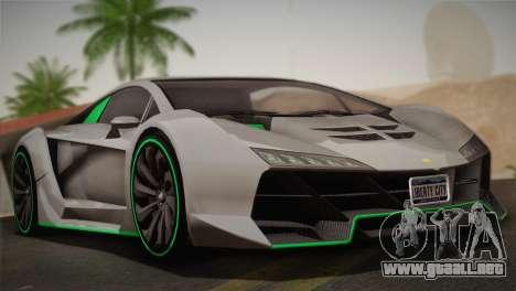 GTA 5 Zentorno para GTA San Andreas vista hacia atrás