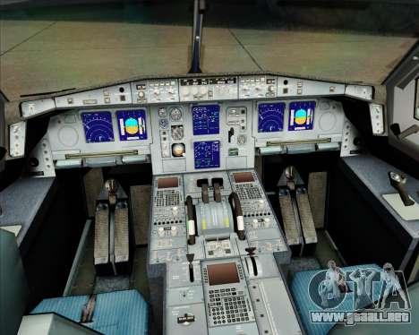 Airbus A340-311 House Colors para GTA San Andreas interior