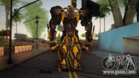 Bumblebee v2 para GTA San Andreas segunda pantalla