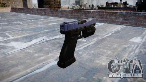 Pistola Glock 20 blue tiger para GTA 4 segundos de pantalla