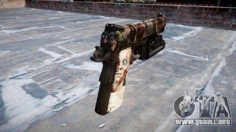 Pistola De Kimber 1911 Zombies para GTA 4 segundos de pantalla