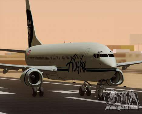 Boeing 737-890 Alaska Airlines para GTA San Andreas left