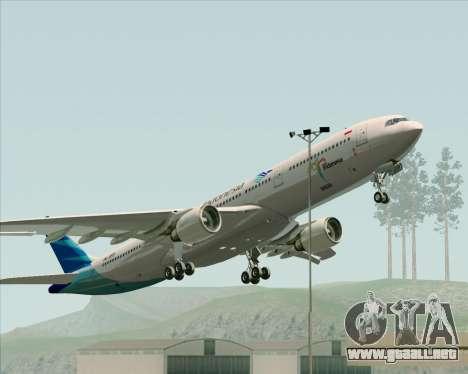 Airbus A330-300 Garuda Indonesia para vista inferior GTA San Andreas