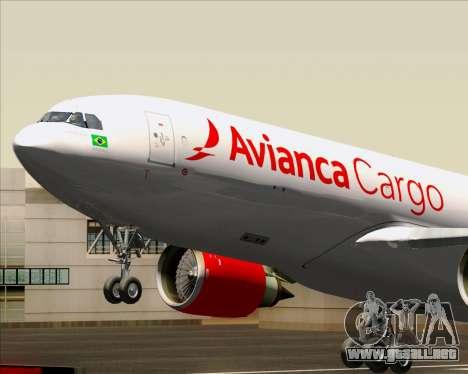 Airbus A330-243F Avianca Cargo para visión interna GTA San Andreas