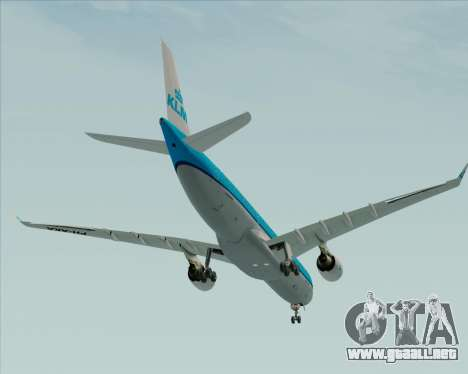 Airbus A330-300 KLM Royal Dutch Airlines para la vista superior GTA San Andreas