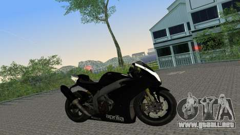 Aprilia RSV4 2009 Black Edition para GTA Vice City visión correcta