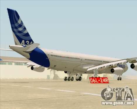 Airbus A340-311 House Colors para la visión correcta GTA San Andreas