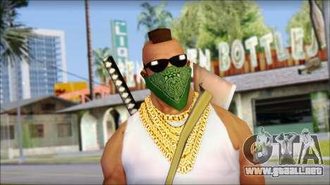 MR T Skin v12 para GTA San Andreas tercera pantalla