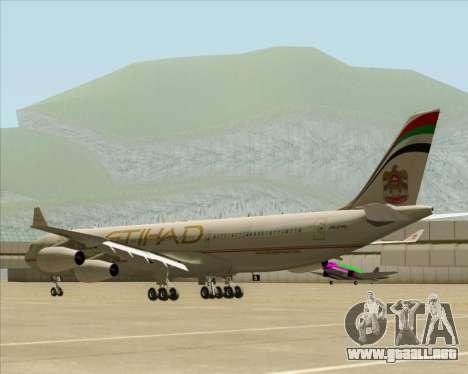 Airbus A340-313 Etihad Airways para la visión correcta GTA San Andreas