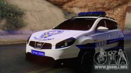 Nissan Qashqai TR de la POLICÍA para GTA San Andreas