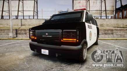 Declasse Burrito Police Transporter LED [ELS] para GTA 4