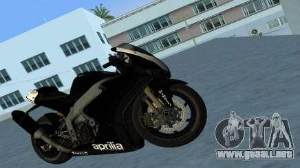 Aprilia RSV4 2009 Black Edition para GTA Vice City