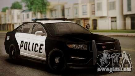 Lo insípido de la Policía Interceptor de GTA V седан para GTA San Andreas