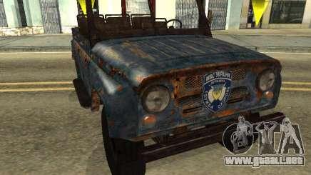 La policía UAZ de Stalker para GTA San Andreas