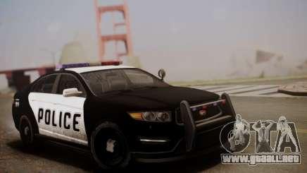 Vapid Police Interceptor from GTA V para GTA San Andreas