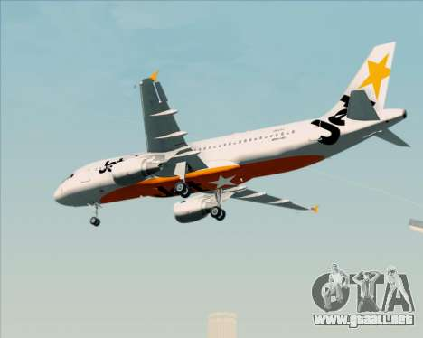 Airbus A320-200 Jetstar Airways para la visión correcta GTA San Andreas