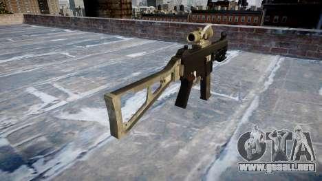 Pistola de UMP45 UN ejército de fans de la piel  para GTA 4 segundos de pantalla