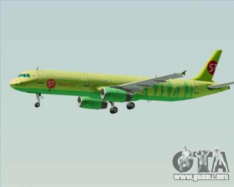 Airbus A321-200 S7 - Siberia Airlines para las ruedas de GTA San Andreas