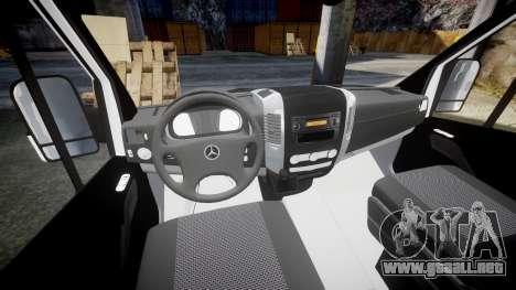 Mercedes-Benz Sprinter ARM Ambulance [ELS] para GTA 4 vista hacia atrás