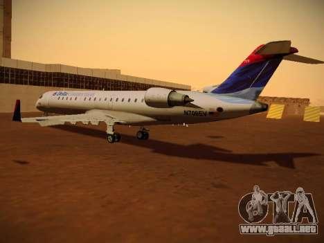 Bombardier CRJ-700 Delta Connection para GTA San Andreas vista posterior izquierda