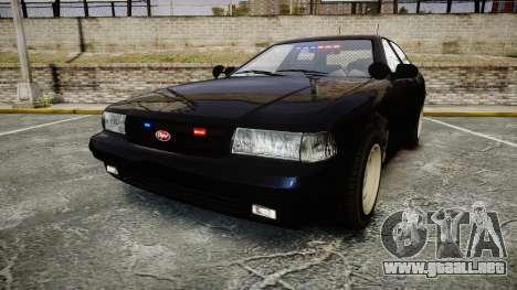 GTA V Vapid Cruiser Police Unmarked [ELS] Slick para GTA 4