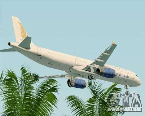 Airbus A321-200 Gulf Air para la vista superior GTA San Andreas