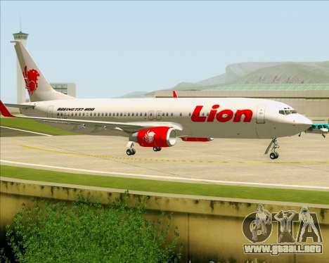Boeing 737-800 Lion Air para visión interna GTA San Andreas