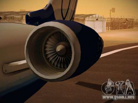 Bombardier CRJ-700 United Express para GTA San Andreas interior