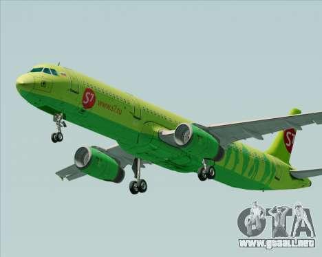Airbus A321-200 S7 - Siberia Airlines para visión interna GTA San Andreas