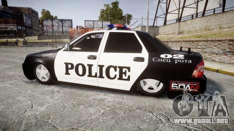 VAZ-2170 Priora Police para GTA 4 left