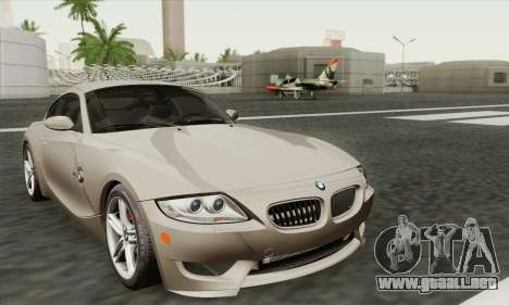 BMW Z4M Coupe 2008 Stock para GTA San Andreas