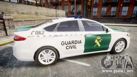 Ford Mondeo 2014 Guardia Civil Cops [ELS] para GTA 4 left