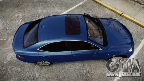Lexus IS 350 F-Sport 2014 Rims1 para GTA 4 visión correcta