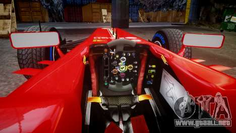 Ferrari F138 v2.0 [RIV] Alonso TFW para GTA 4 vista interior