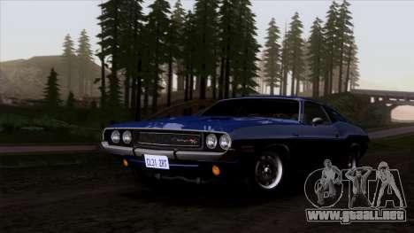 Dodge Challenger 426 Hemi (JS23) 1970 (HQLM) para GTA San Andreas vista hacia atrás