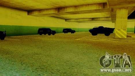 Vehículos nuevos en el LVPD para GTA San Andreas segunda pantalla