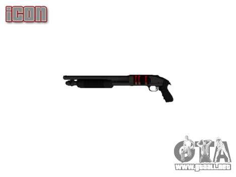 Riot escopeta Mossberg 500 icon2 para GTA 4 tercera pantalla