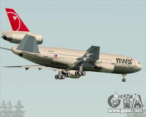 McDonnell Douglas DC-10-30 Northwest Airlines para la visión correcta GTA San Andreas