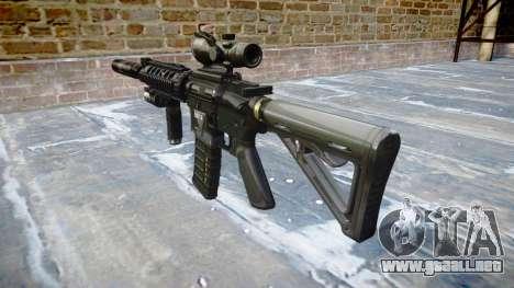 Máquina Táctico M4A1 CQB destino para GTA 4 segundos de pantalla