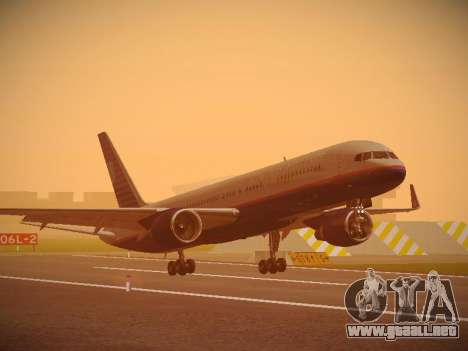 Boeing 757-224 United Airlines para GTA San Andreas left