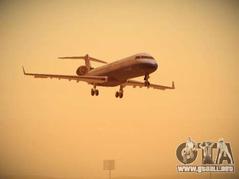 Bombardier CRJ-700 United Express para GTA San Andreas left