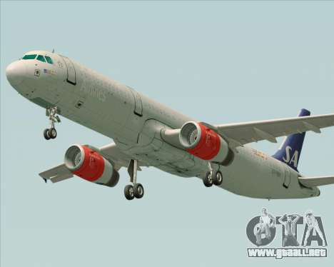 Airbus A321-200 Scandinavian Airlines System para GTA San Andreas left