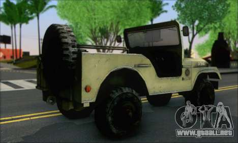 Jeep From The Bureau XCOM Declassified para GTA San Andreas left
