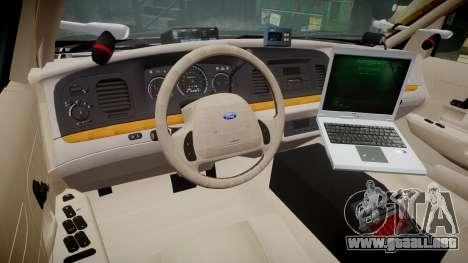 Ford Crown Victoria LASD [ELS] Marked para GTA 4 vista hacia atrás