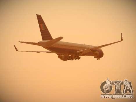 Boeing 757-224 United Airlines para vista lateral GTA San Andreas